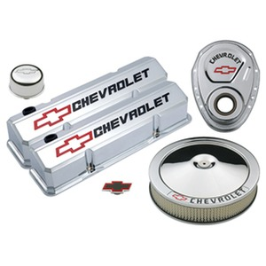GM Performance Die-Cast Slant Edge Chrome Valve Cover Kit