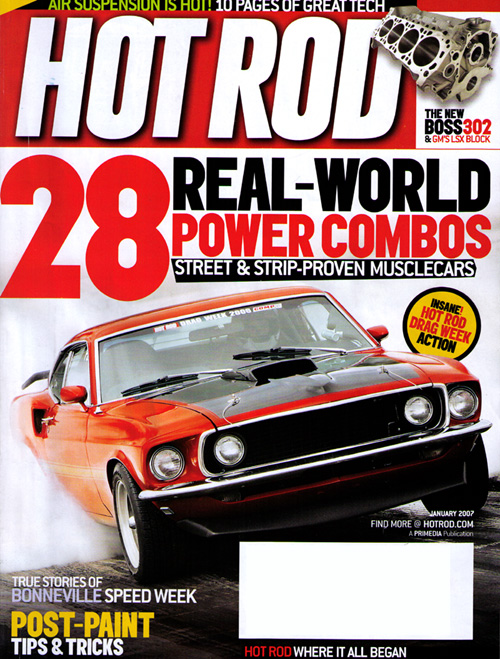 Hot Rod Magazine Cover, January 2007